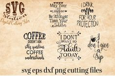 Coffee Cup SVG PNG EPS and DXF Cutting File for Silhouette and Cricut By Svg Station #ad #svg #silhouette #silhouettecameo #cricut #vinyl #decal #coffee #cup