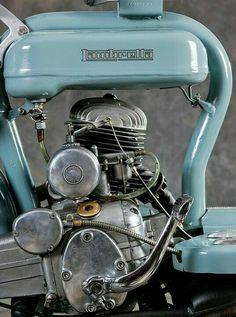 Antique Motorcycles, American Motorcycles, Custom Motorcycles, Lambretta Scooter, Vespa Scooters, Motorcycle Engine, Motorcycle Art, Motorized Bicycle, Scrambler Motorcycle
