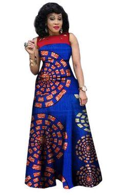 $48.07  #21  African Print African Sleeveless Sexy Dress Plus Size Dress BRW WY1341