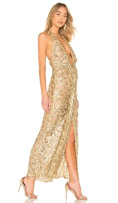 391d454794df7 On The Low Gown in Gold Lowes, Cold Shoulder Dress, Elegance Fashion, Lowes