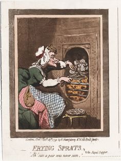 Frying sprats, vide royal supper. Lewis Walpole Library Digital Collection