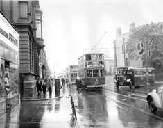 Rathmines Road 1950s Dublin Street, Dublin City, Dublin Ireland, Ireland Travel, Old Pictures, Old Photos, Vintage Photos, Images Of Ireland, Buses And Trains
