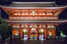 Sensoji (浅草寺, Sensōji, also known as Asakusa Kannon Temple) is a Buddhist temple located in Asakusa. It is one of Tokyo's most colorful and popular temples.