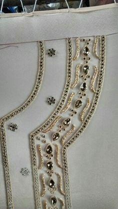 Golden work on golden fabric