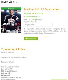 It's right around the corner, our Madden 18 Tournament is this Friday night! Register online or at any Gamers Paradise location! Nfl Superbowl, Patriots Football, Video Game Tournaments, Football Tournament, Madden Nfl, Register Online, Super Smash Bros, Online Games, Eagles