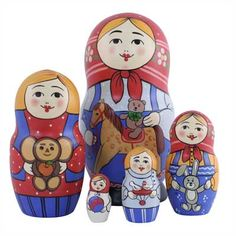 "Traditional Matryoshka ""Childrens Toys""    FromRussia.com"
