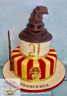 Harry Potter Sorting Hat - Cake by Elaine Bennion (Cake Genie, Cakes by Elaine)