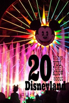 20 Things You Didn't Know About the Disneyland Resort. Special thanks to Earl of Sandwich for sponsoring this post!  www.earlofsandwichusa.com