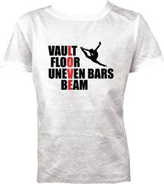Girls Gymnastics Shirt T-shirt Vault Floor uneven bars beam LOVE shirt