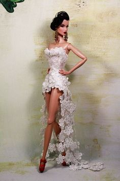 barbie doll in yellow lace dress - Google Search: