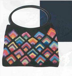 Uncinetto d'oro: La borsa con quadrate colorate!