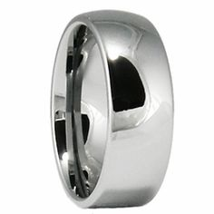 8MM Classic Domed Tungsten wedding band. Engraving options available for the inside or outside of this ring, $49.99.    http://ring-ninja.com/8mmcldotuwer.html