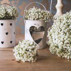 Flower School – Wonderful White Wedding Flowers with Campbell's Flowers Gypsophila Bouquet, Gypsophila Wedding, Bride Bouquets, Table Flower Arrangements, Table Flowers, White Wedding Flowers, Purple Wedding, White Flowers, Wedding Table Decorations