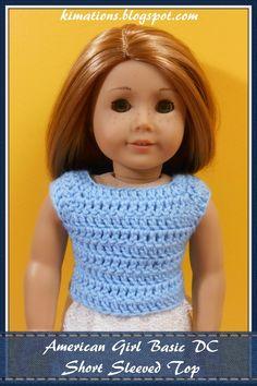 American Girl Basic DC Short Sleeve Top