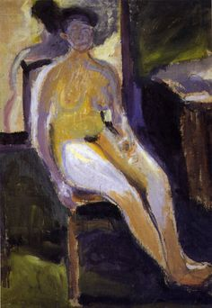 Seated Nude - Richard Gerstl
