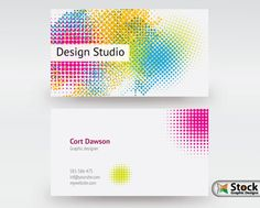 43 best business card templates images on pinterest business card stylish colorful dotted designer vector business card template available for free download thanks to stockgraphicdesigns fbccfo Images
