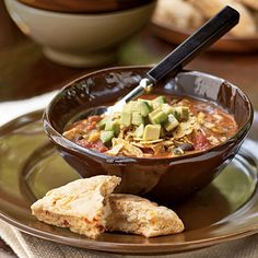 Southwestern Turkey Soup Recipe - been making this since I saw it in Cooking Light in never used turkey, always just use a rotisserie chicken Soup Recipes, Chicken Recipes, Snack Recipes, Dinner Recipes, Cooking Recipes, Healthy Recipes, Weeknight Recipes, Chili Recipes, Pork Soup
