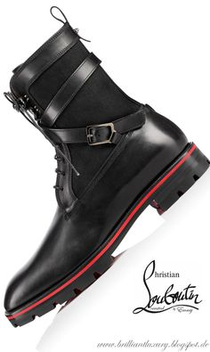 The Best Men's Shoes And Footwear : Brilliant Luxury ♦ Christian Louboutin Safacroc Flat - Fashion Inspire Christian Louboutin Red Bottoms, Louboutin High Heels, Christian Louboutin Outlet, Red Louboutin, Louboutin Shoes Mens, Best Shoes For Men, Men S Shoes, Dress With Boots, Fashion Boots