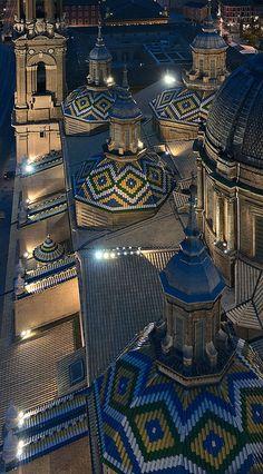 Domes | Basílica Nuestra Señora del Pilar, Zaragoza, Spain