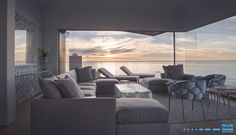 Exquisite lounge perched with sunset views of the ocean