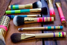 Spruce up your makeup brushes with amazing DIY tips from tarte cosmetics!