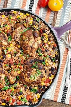 One Pot Chicken and Mexican Rice #Recipe - My Favorite Recipes