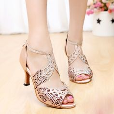 5d9a7ae9e20 Diamond Women Latin shoes female adult square dance ballroom dancing shoes  high-heeled sandals soft