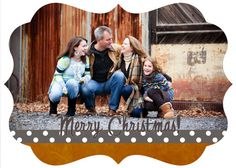 Mud Pie - 5x7 Horizontal Postcard Christmas Holiday Card LUXE BOUTIQUE PSD Template Design