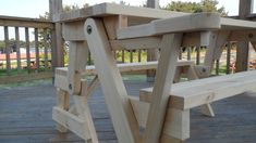 Folding picnic table bench plans Folding Bench Convertible Picnic Table Woodworking Plan Patio Http You Save 3 00 23 At The Time Today For free plans and instructions Folding Picnic Table Bench, Picnic Table Plans, Garden Table And Chairs, Garden Bench Plans, Garden Shed Diy, Garden Benches, Diy Furniture Easy, Diy Furniture Projects, Folding Furniture