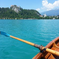 Rowing on Lake Bled in #Slovenia, a hidden gem for adventure travel. Photo courtesy of nowwhatstheplan on Instagram.