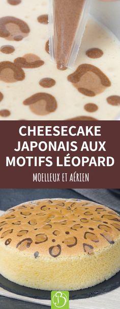 Si vous aimez la pâte extrêmement moelleuse, vous devez essayer cette recette de gâteau. Le cheesecake japonais, qui est une variété de sponge cake, est moins sucré et calorique que le cheesecake traditionnel. Le goût et la texture de cette préparation sont délicieux, mais ce qui marque le plus, c'est son motif sauvage. #cheesecake #spongecake #motifleopard Orange Crush, Cakes And More, Muffin, Food And Drink, Bread, Safari Look, Cooking, Breakfast, Sweet