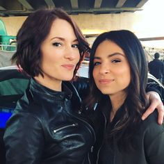 As promised... a #Sanvers selfie :) Happy #Supergirl Monday!! ❤ @florianalima @thecwsupergirl