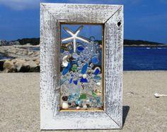 10 x 11 un montón de brillantes color cristal playa decorada con una estrella de mar blanco dedo perfecto para una decoración de temática playa