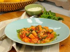 Geoffrey Zakarian's Ricotta Gnocchi - The beauty of these light, pillowy gnocchi is that they can be frozen (uncooked) for a few weeks, so make a batch today and keep them on hand for when you need an impressive dinner in a hurry. http://www.foodnetwork.com/recipes/geoffrey-zakarian/ricotta-gnocchi