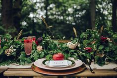 This shoot gave me all the feels today. I mean what's not to love about beautiful woodland, a romantic theme and decadent styling? Snow White was the Quirky Wedding, Woodland Wedding, Diy Wedding, Wedding Favors, Wedding Flowers, Wedding Ideas, Wedding Inspiration, Apple Decorations, Reception Decorations