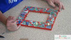 Mosaic CD Frame : DIY TEEN CRAFT!