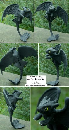 Night Fury Resin by *SovaeArt on deviantART