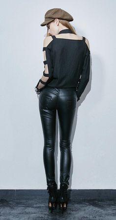 PUNK RAVE Skinny Zip Pants Kunstlederhose Fake Leather Pants EDEL PUNK GOTHIC   eBay