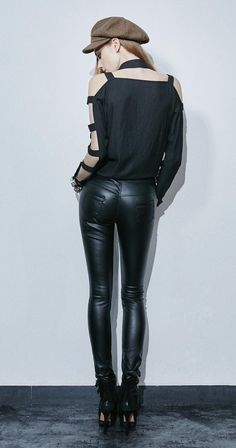 PUNK RAVE Skinny Zip Pants Kunstlederhose Fake Leather Pants EDEL PUNK GOTHIC | eBay