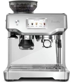Breville Barista Touch Espresso Maker A solid all-in-one espresso maker An attractive grinder and espresso maker combined. The Barista Touch is perfect for beginners and those who love espresso, but don't want the me… Machine A Cafe Expresso, Espresso Machine Reviews, Espresso Coffee Machine, Espresso Maker, Coffee Maker, Coffee Creamer, Breville Espresso Machine, Coffee Shop, Coffee Life