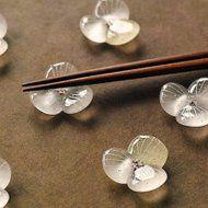 ガラスの箸置き / 水の花・クリア