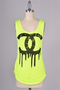 Neon cc top, $30.00 by Appealing Boutique