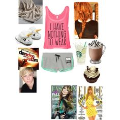 Lazy day! DWTS with Riker Lynch by purplepoponedirection on Polyvore featuring polyvore, fashion, style and ThinkGeek
