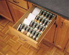 Rev-A-Shelf trimmable spice drawer insert. Large spice tray in almond and white is trimmable to fit various sizes of drawers. wide and deep. Kitchen Drawer Organization, Spice Organization, Diy Kitchen Storage, Kitchen Drawers, Kitchen Cabinets, Storage Cabinets, Spice Drawer Organizer, Cabinet Organizers, Kitchen Drawer Inserts