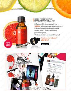 Best No.1 Selling Vitamin C serum, OST Pure Vitamin C 20 serum from wishtrend