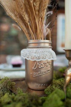Rustic Wedding Centerpieces with Mason Jars | Unique Wedding Ideas