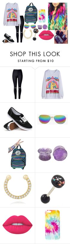 """""""oiuyghj"""" by annie-hall-barton ❤ liked on Polyvore featuring WithChic, Vans, Boohoo, Jac Vanek, Ileana Makri and Lime Crime"""
