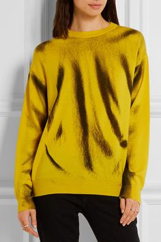 Yellow and black wool Slips on  100% virgin wool Dry clean Made in Italy