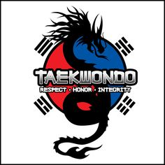 Even if I didn't like Taekwondo, I'D STILL WEAR THIS SHIRT! The design has Balance, Contrast and Focus. It attracts your attention. And Dragons are always cool! • In this design the Dragon represents