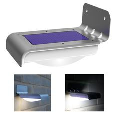This Set of 2 - Bright LED Solar Powered Wireless Motion Sensor Light is a high quality light suitable as a security light or shed/garage light. The solar light uses a powerful 0.6W solar panel to cha